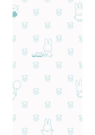 Kek Nijntje WP-510 Miffy Bears Mint Behang - Dutch Wallcoverings/Kek Amsterdam