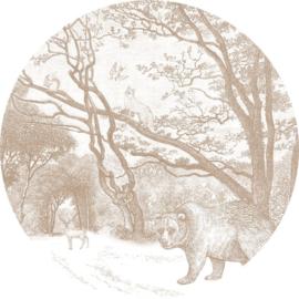 Esta Home Forest Friends Zelfklevende Behangcirkel 159072 Forest/Bos/Dieren/Beer