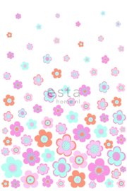Esta XL Photowalls For Kids Fotobehang 158709 Retro Flowers/Bloemen/Kinderkamer