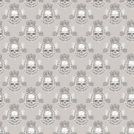 Noordwand Grunge Behang G45366 Skull/Doodshoofd/Modern/Tiener