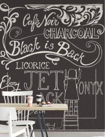 Eijffinger Black & Light  356217 Vintage/Teksten/Kalkboard Fotobehang