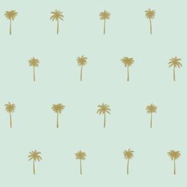 Esta Home Paradise Behang 154-139159 Palmbomen/Tropical/Natuurlijk/Modern/Mint/Goud