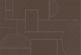 Hookedonwalls Sketch Behang 19543 Swerve/Modern/Grafisch/Flock