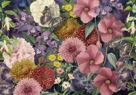 Behangexpresse Floral-Utopia Fotobehang INK7577 Eden Colors/Bloemen/Vlinders