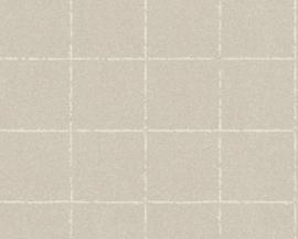AS Creation New Elegance Behang 37551-4 Modern/Landelijk/Blokken/Structuur