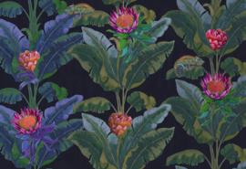 Hookedonwalls Breeze Fotobehang BRD24101 Fantasie Tree/Bloemen/Kameleon/Natuurlijk