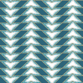 Dutch Wallcoverings First Class Elements Behang 90450 Eiger Teal/Modern/Grafisch
