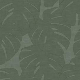 Origin Natural Fabrics Behang 351-347762 Monstera Bladeren/Botanisch/Natuurlijk/Modern