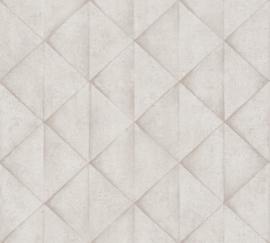 AS Creation Industrial Behang 37742-1 Modern/Industrieel/3D/Driehoek