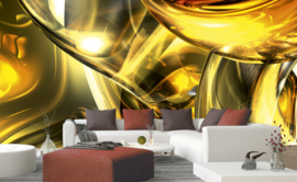 Dimex Fotobehang Golden Wires MS-5-0291 Gouden Draden/Modern/Abstract