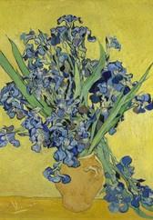 Van Gogh BN Wallcoverings Behang 30545 Iris/Bloemen/Vaas/Klassiek/Geel/Blauw Fotobehang