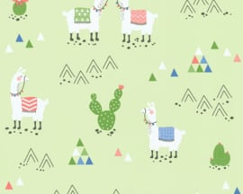 AS Creation Boys & Girls6 Behang 36985-2 Alpaca/Lama/Cactus/Bergen/Groen/Kinderkamer