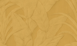 Arte Monsoon Behang 75004 Musa/Botanisch/Bladeren/Natuurlijk/Modern/Goud
