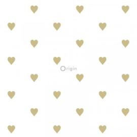 Origin Precious Behang 352-347679 Hartjes/Kinderkamer/Babykamer/Goud