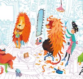 Kek Amsterdam WS 073 Lion's Haircut Fotobehang - Dutch Wallcoverings