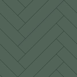 Esta Home Art Deco Behang 156-139222 Hout/Planken/Visgraat/Modern/Landelijk/Groen