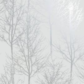 Dutch Wallcoverings Indulgence Behang 90760 Rhea Trees Dark Grey Silver/Bomen/Natuurlijk/Modern