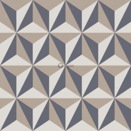Origin Wunderkammer  Behang 346-347447 Modern/3D effect/Grijs/Creme/Beige