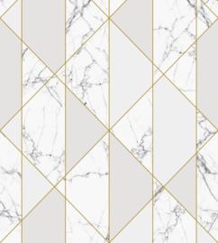 Esta Home Art Deco Fotobehang 158965 Graphic Lines Marble/Grafisch/Lijnen/Marmer/Modern