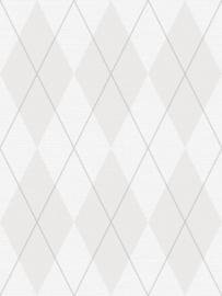 Dutch Wallcoverings Navy, Grey & White Textiel Behang BL72010 Ruiten/Grafisch/Textiel/Modern/Landelijk