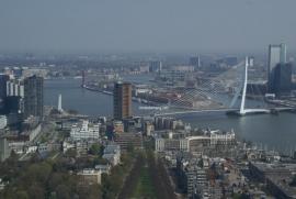 Fotobehang. Rotterdam-Erasmusbrug
