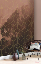 Komar Pure PSH099-VD2 Golden Grid/Natuur/Grafisch/Bomen/Modern Fotobehang Noordwand