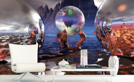 Dimex Fotobehang Crystal Vision MS-5-0292 Kristal/Ballen/Modern/Glazen Bollen