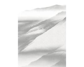 Noordwand Komar Raw Fotobehang R2-010 White Noise Mountain/Bergen/Modern/Natuurlijk
