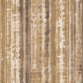 Noordwand Grunge Behang G45357 Strepen/Vintage/Verweerd/Industrieel/Landelijk/Bruin