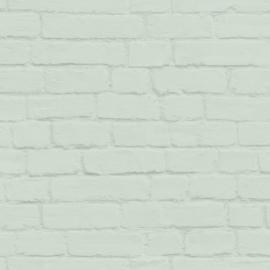 Esta Home Art Deco Behang 156-139193 Baksteen/Stenen/Modern/Landelijk/Mintgroen