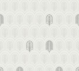 AS Creation New Life Behang 37683-1 Modern/Grafisch/Art Deco/Zwart/Wit