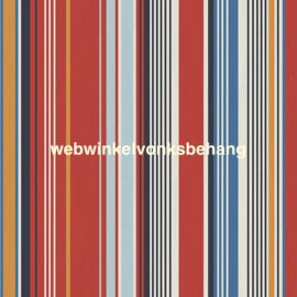 Eijffinger Stripes+  Behang 377113 Strepen/Rood/Blauw/Oker