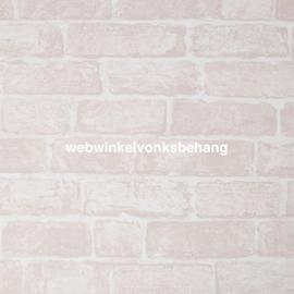 Noordwand Kids@Home Individual Behang 108591 Pink Brick/Baksteen/Stenen/Roze