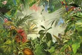 Komar Home Imagine Edition 4 Fotobehang XXL4-031 Into the Wild/Botanisch/Bladeren/Dieren/Vogels