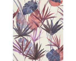 Rasch Barbara Home Collection  Behang 536430 Botanisch/Bladeren/Natuurlijk/Draadje Structuur