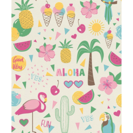 Rasch Kids & Teens III Behang 815238 Tropical/Flamingo/Vogels/Cactus/Aloha/Fun/Kinderkamer