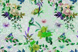 AS Creation Living Walls by Patel Fotobehang DD110192 Mosaic Garden1 /Tegel/Botanisch/Vogels/Bloemen Behang
