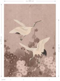 Esta Home Paradise Fotobehang 158946 Japanese Cranes/Kraanvogel/Vogels/Botanisch/Natuurlijk