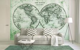 AS Creation Designwalls DD118704 Hemispheres 2/Halfrond/Wereldkaart/Travelling