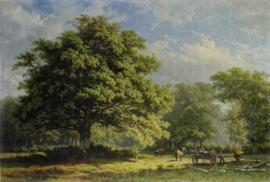 Painted Memories 2 Fotobehang 8041 Working in the Woods/Natuur/Landschap/Bomen Dutch Wallcoverings