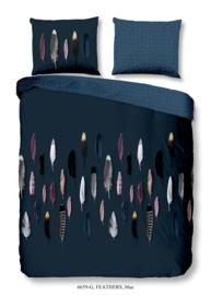 Muller Textiles Dekbedovertrek 6659 Feathers Blue/Veren/Goodmorning/Natuurlijk/1 Persoons