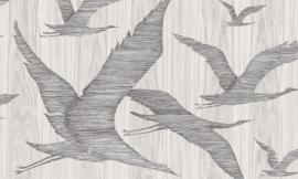 Arte Ligna Behang 42040 Hover/Vogels/Botanisch/Exclusief Wandbekleding