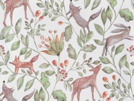 BN Wallcoverings Doodleedo Behang 220700 Catch me if you can/Tropical/Mix & Match/Botanisch/Dieren/Kinderkamer