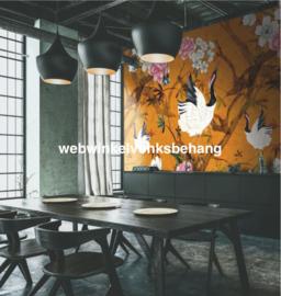 Marburg Smart Art Aspiration Fotobehang 46702 Falina/Kraanvogels/Japan/Bloemen/Geluksvogel