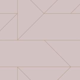 Origin City Chic Behang 353-347721 Grafisch/Modern/Lijnen/Roze/Goud