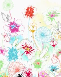 Komar Home Imagine Edition 4 Fotobehang X4-1032 Joyful/Retro/Botanisch/Bloemen
