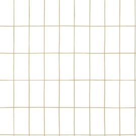 Esta Home Black & White Behang 155-139131 Blok/Tegel/Modern/Wit/Goud