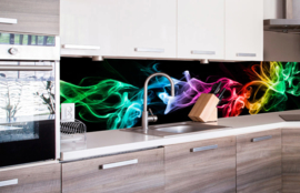 Dimex Zelfklevende Keuken Achterwand Black Smoke KL-260-081 Rook/Modern/Multi/Zwart