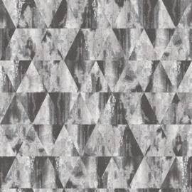 Noordwand Grunge  Behang G45334 Grafisch/Modern/Driehoeken/Grijs/Zwart
