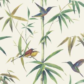 Noordwand Global Fusion Behang G56412 Bamboe/Vogels/Natuurlijk/Landelijk
